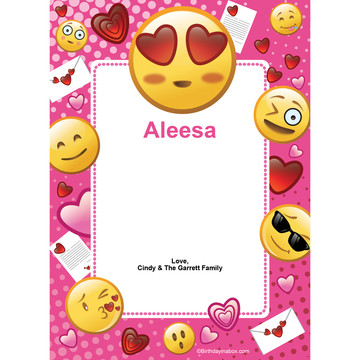 Pink Emoji Personalized Thank You (Each)