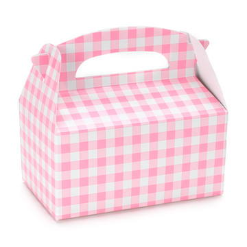 Pink Gingham Empty Favor Boxes