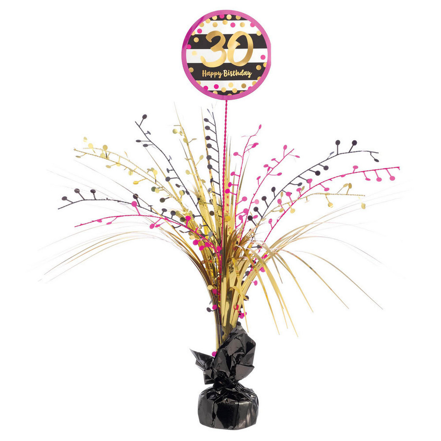 View larger image of Pink & Gold 30th Birthday Spray Centerpiece (1)