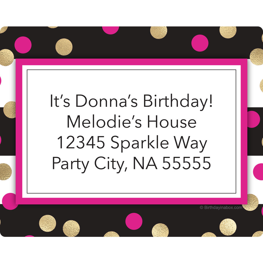 View larger image of Pink & Gold Personalized Address Labels (Sheet of 15)