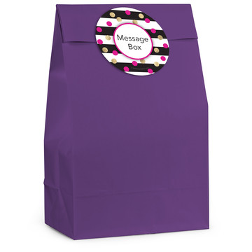 Pink & Gold Personalized Favor Bag (12 Pack)