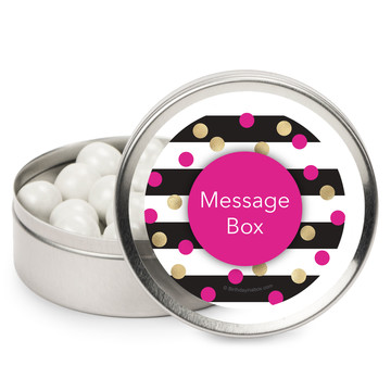 Pink & Gold Personalized Mint Tins (12 Pack)
