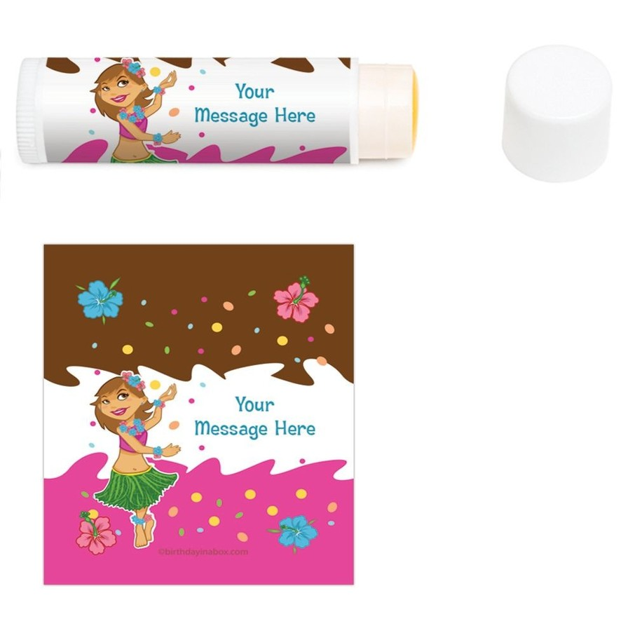 View larger image of Pink Luau Fun Personalized Lip Balm (12 Pack)