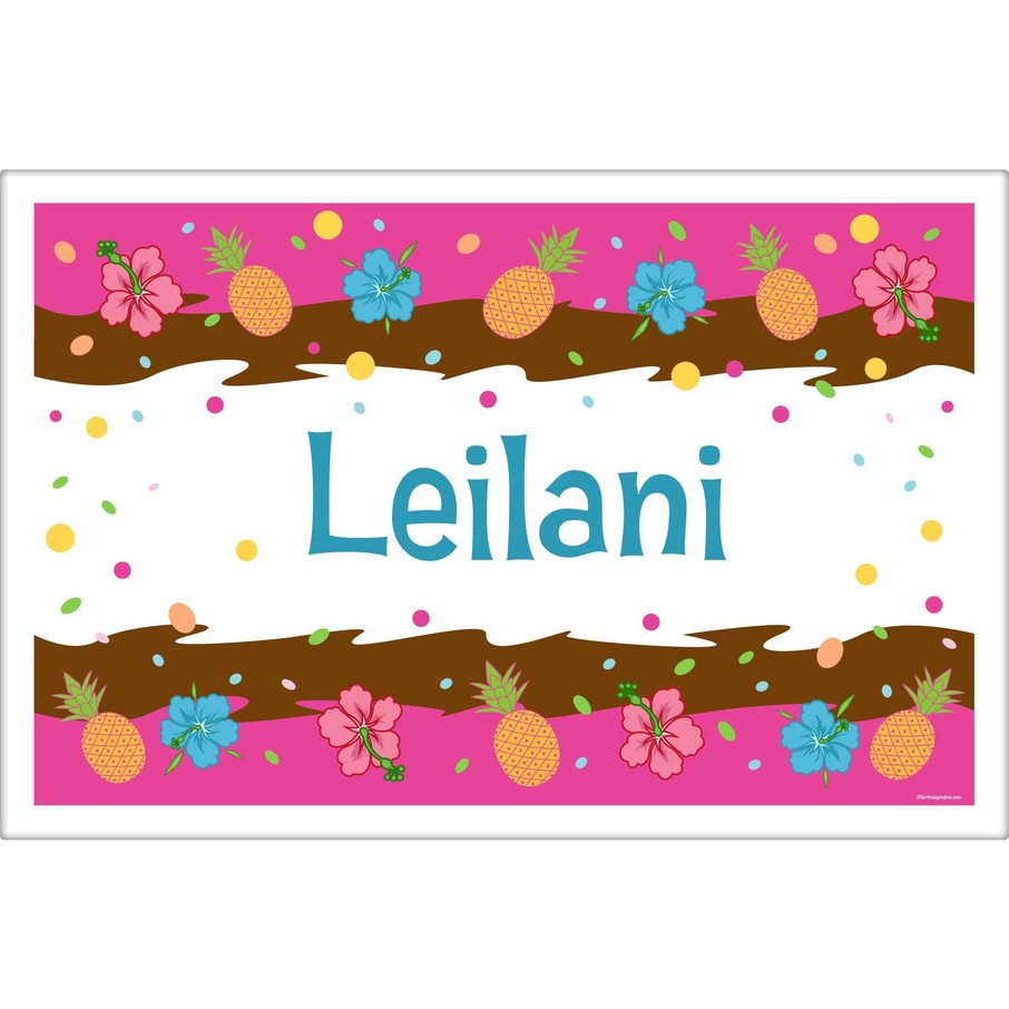 View larger image of Pink Luau Fun Personalized Placemat (Each)