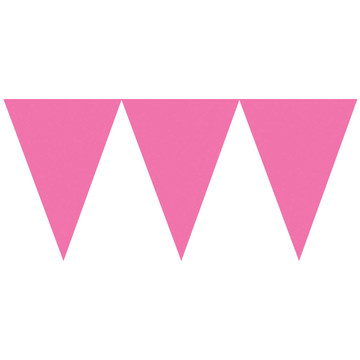 Pink Paper Pennant Banner