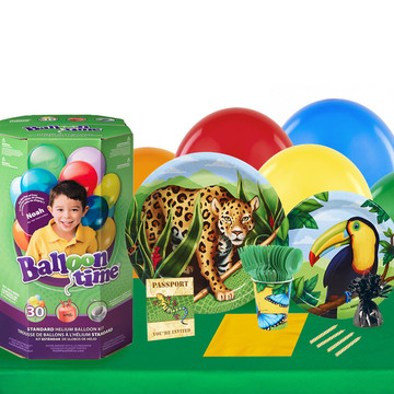 Jungle Party 16 Piece Tableware Helium Tank