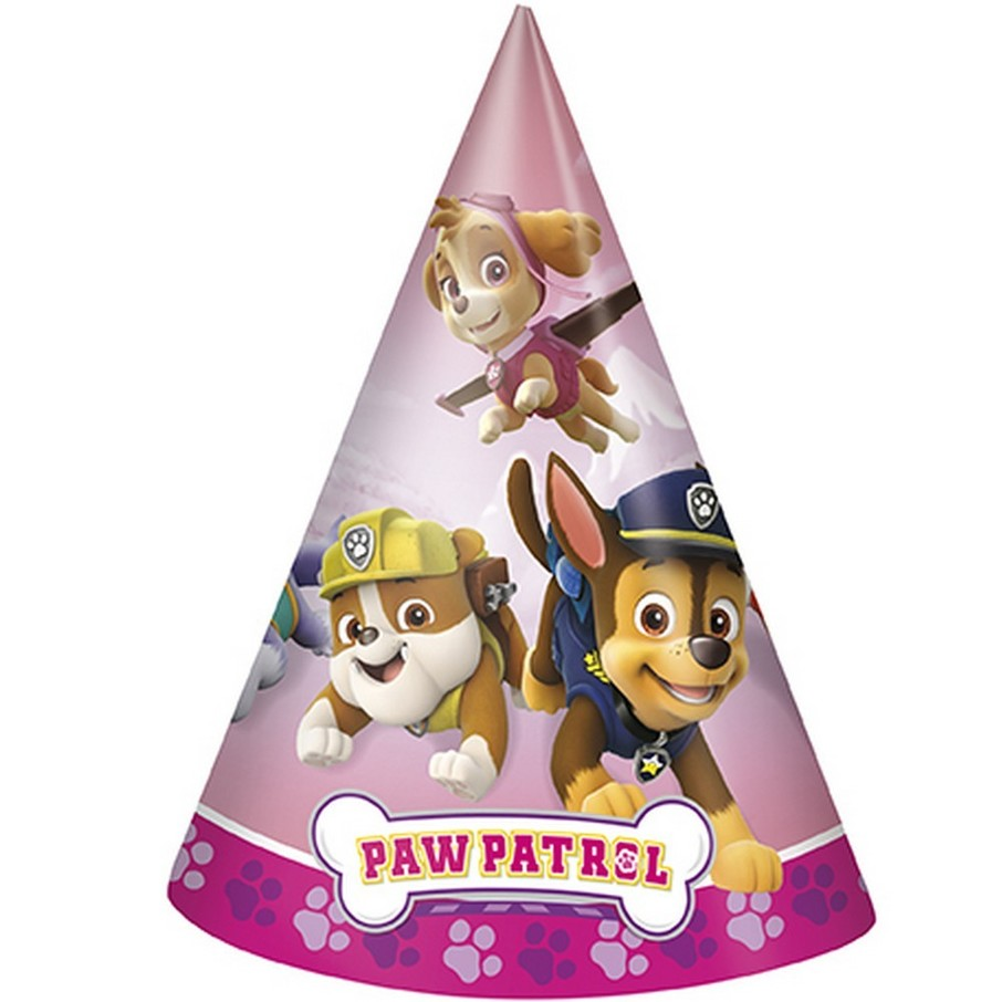 View larger image of Pink Paw Patrol Cone Party Hat (8)