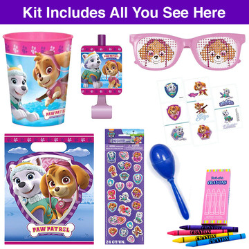 Pink Paw Patrol Deluxe Favor Goodie Bag, 1ct