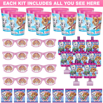 Pink Paw Patrol Favor Kit (For 8 Guests)