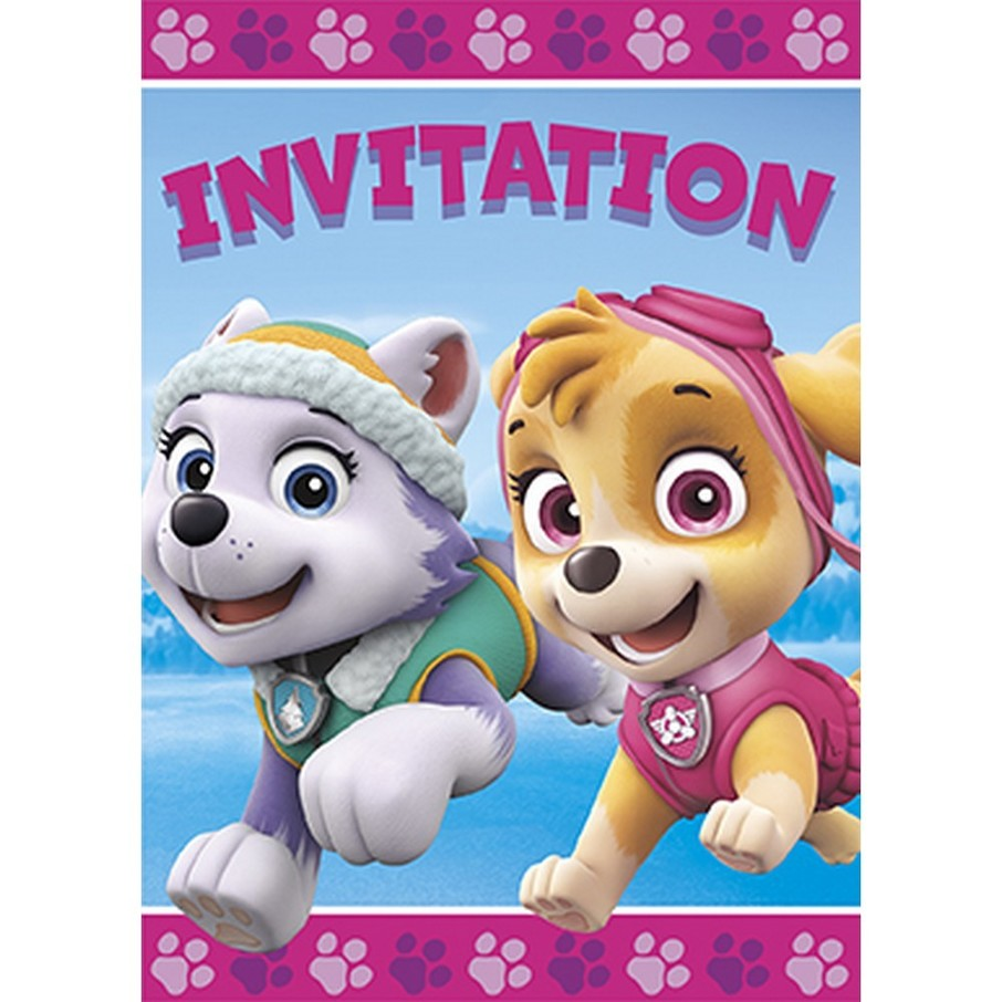 View larger image of Pink Paw Patrol Invitation (8)