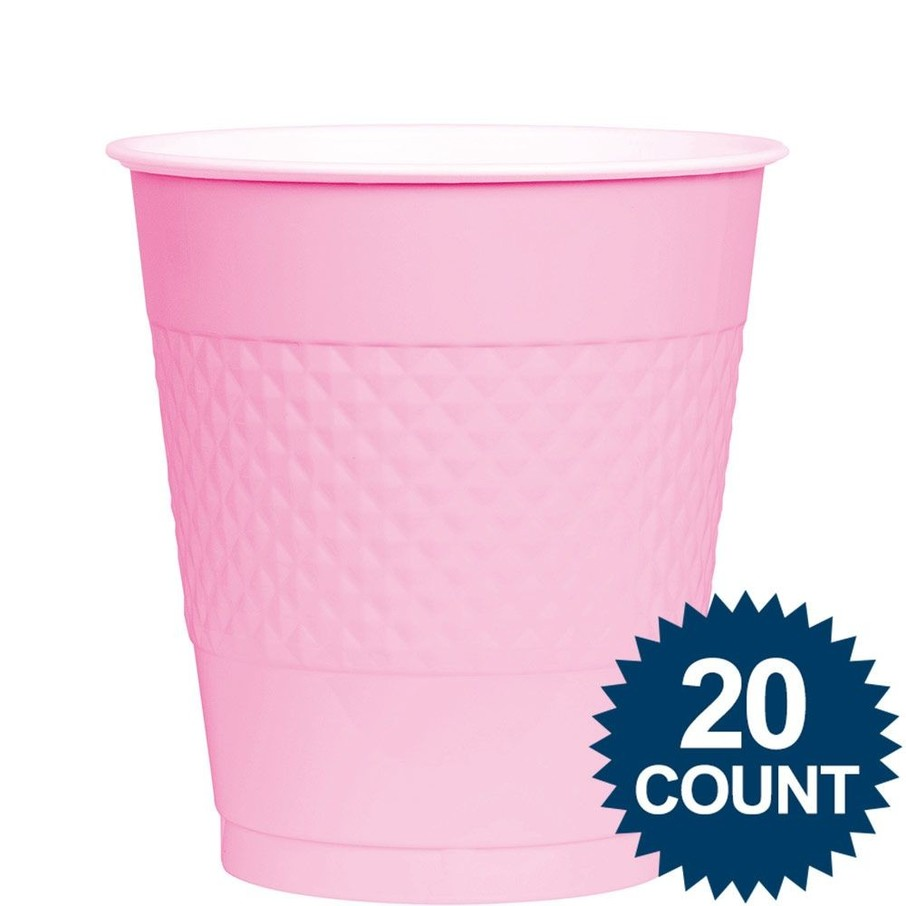 View larger image of Pink Plastic Cups, 12 oz. 20 ct.