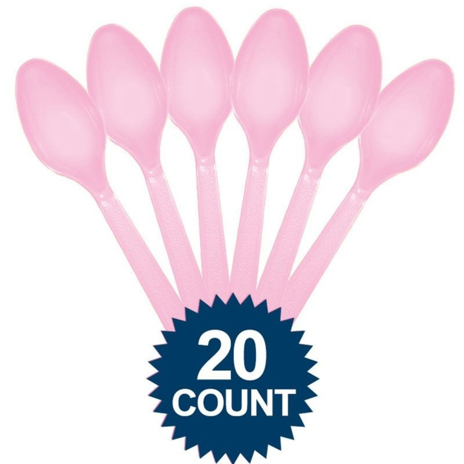 View larger image of Pink Plastic Spoons 20 ct