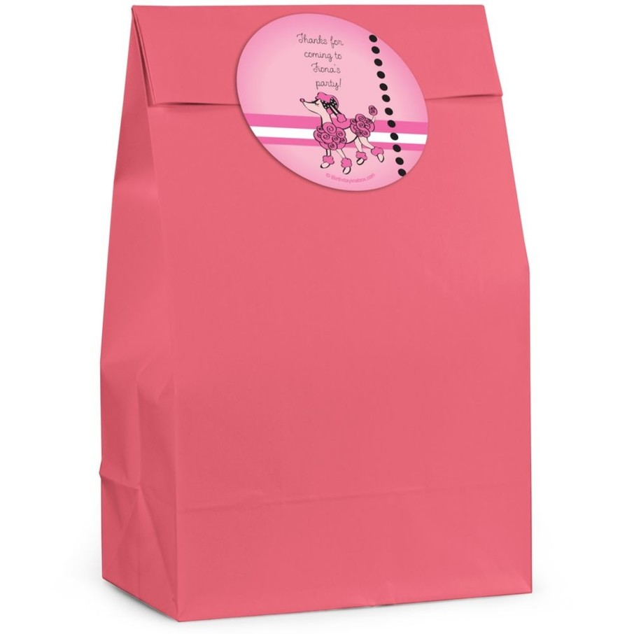 View larger image of Pink Poodle Personalized Favor Bag (Set Of 12)