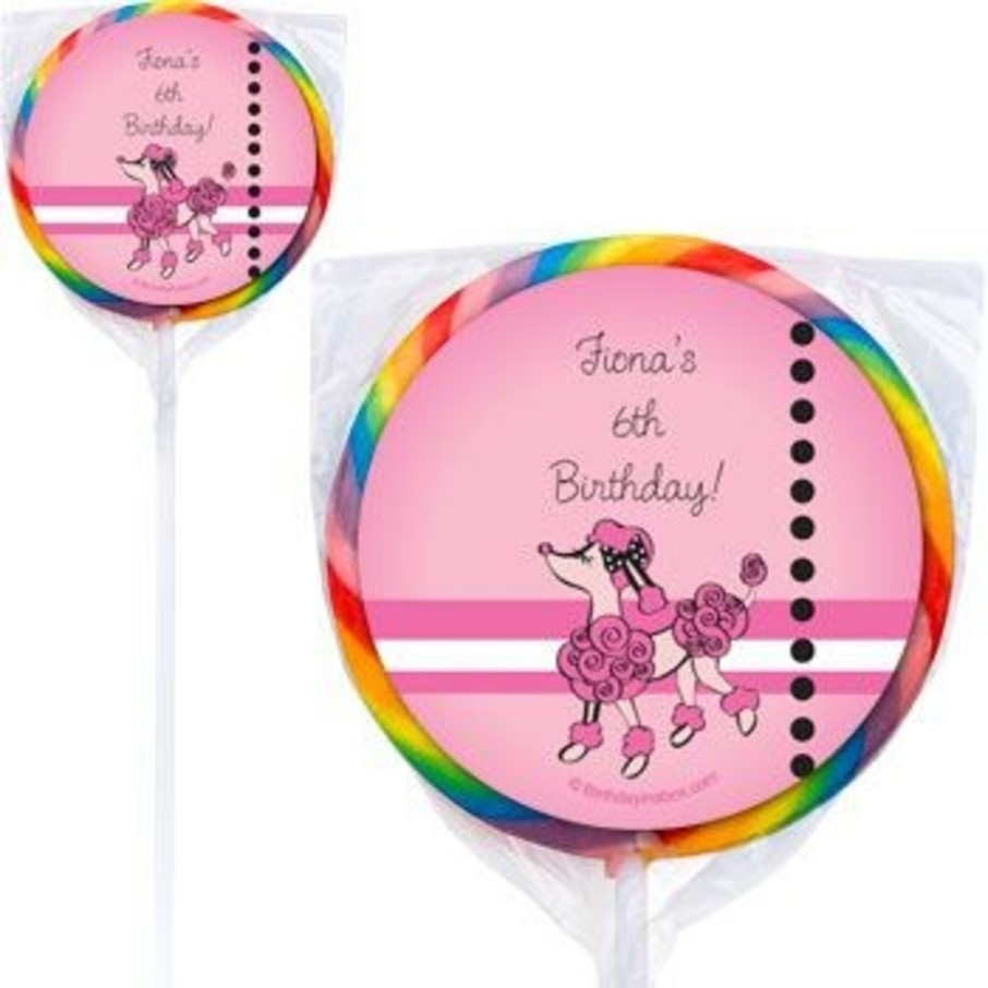 View larger image of Pink Poodle Personalized Lollipops (pack of 12)