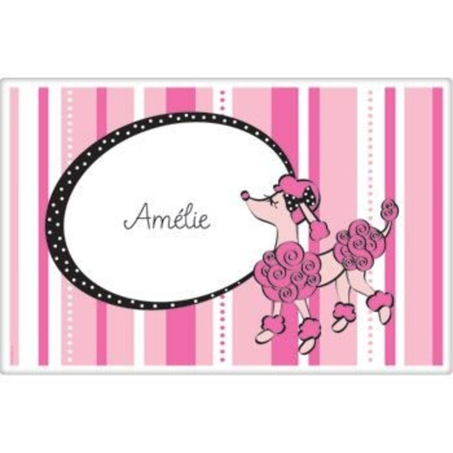 View larger image of Pink Poodle Personalized Placemat (each)