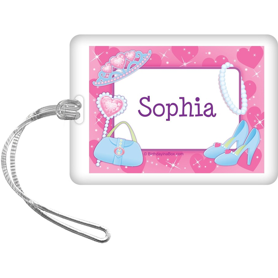 View larger image of Pink Princess Party Personalized Bag Tag (each)