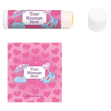 Pink Princess Party Personalized Lip Balm (12 Pack)