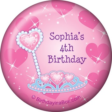 Pink Princess Party Personalized Magnet (each)