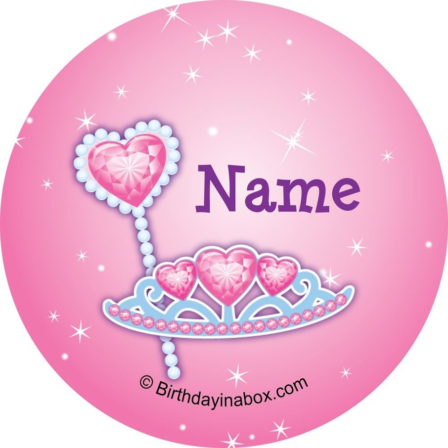 View larger image of Pink Princess Party Personalized Mini Stickers (Sheet of 24)