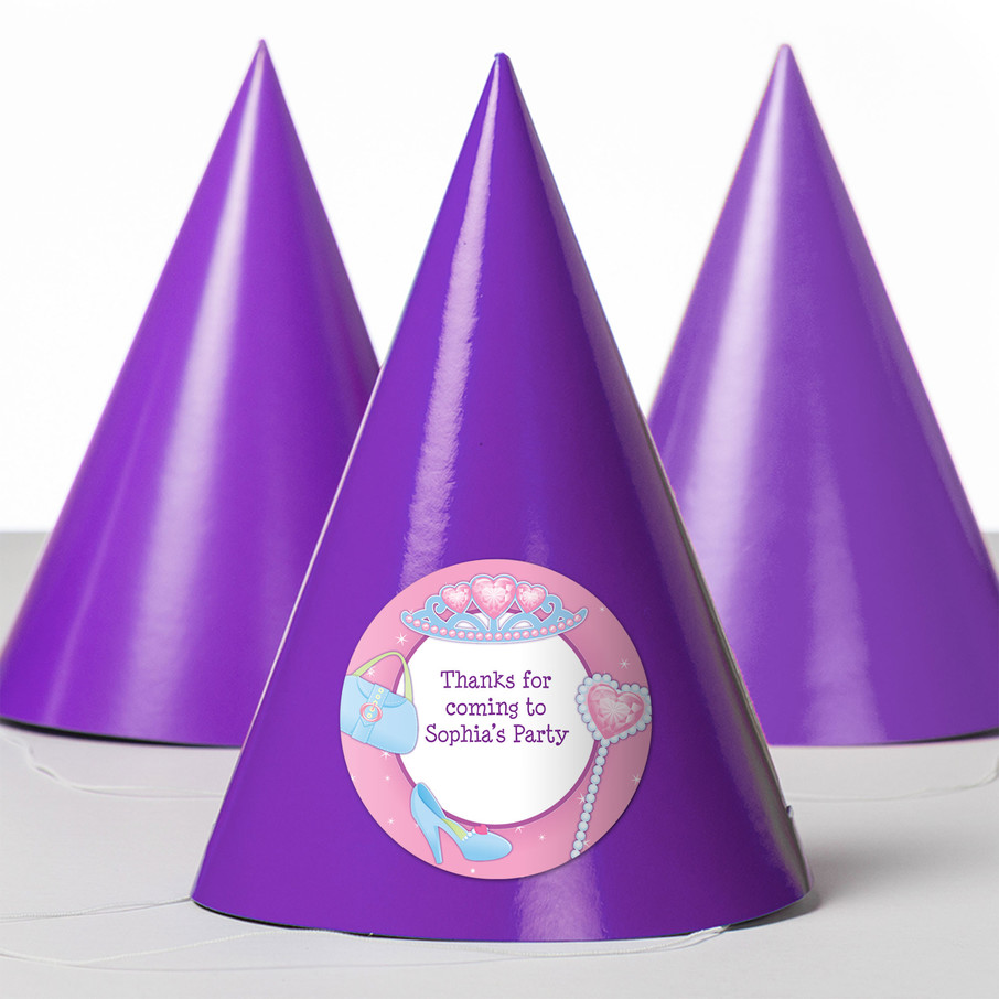 View larger image of Pink Princess Party Personalized Party Hats (8 Count)