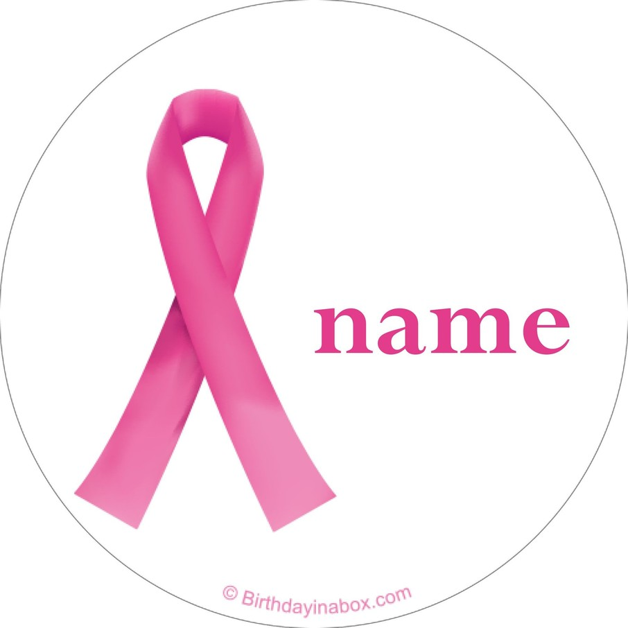 View larger image of Pink Ribbon Personalized Mini Stickers (Sheet of 24)