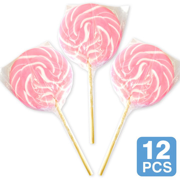 "Pink Swirl 3"" Lollipops (12 Count)"
