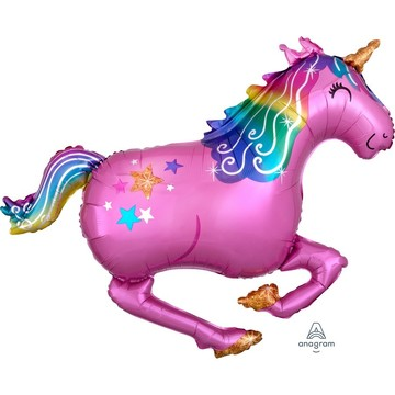 Pink Unicorn 39 Jumbo Shaped Foil Balloon