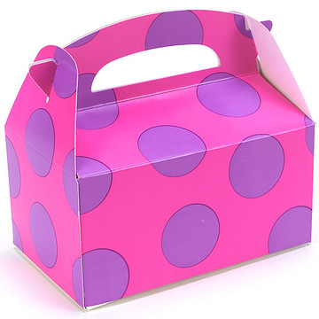 Pink with Purple Big Dots Empty Favor Boxes (4)