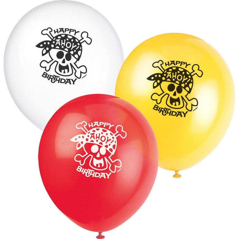 """View larger image of Pirate Birthday 12"""" Latex Balloons (8-Pack)"""
