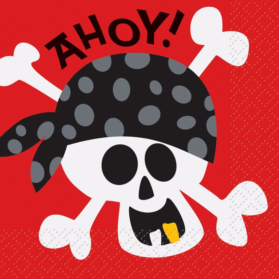 View larger image of Pirate Birthday Beverage Napkins (16-Pack)
