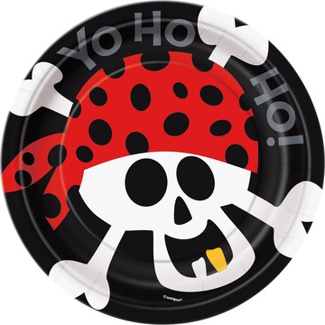 Pirate Birthday Cake Plates (8-Pack)
