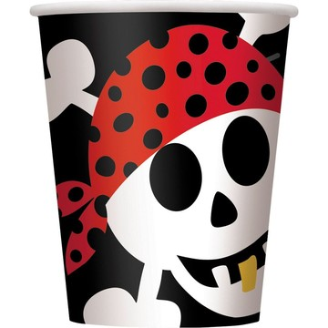 Pirate Birthday Cups (8-Pack)