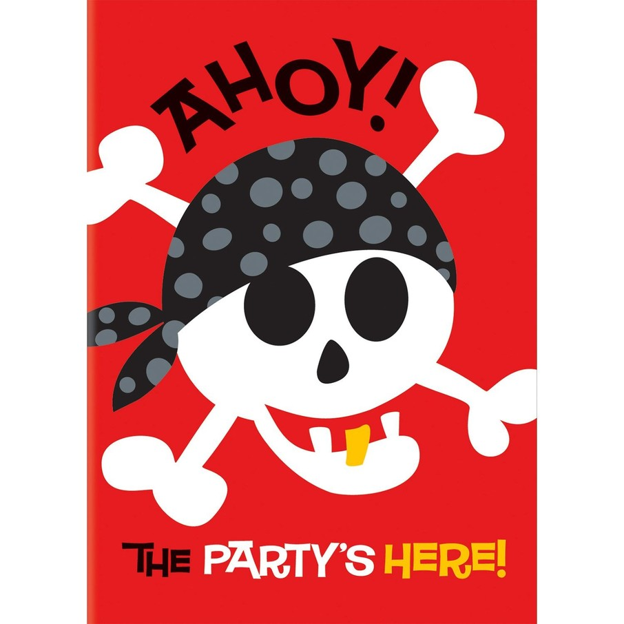 View larger image of Pirate Birthday Invitations (8-Pack)