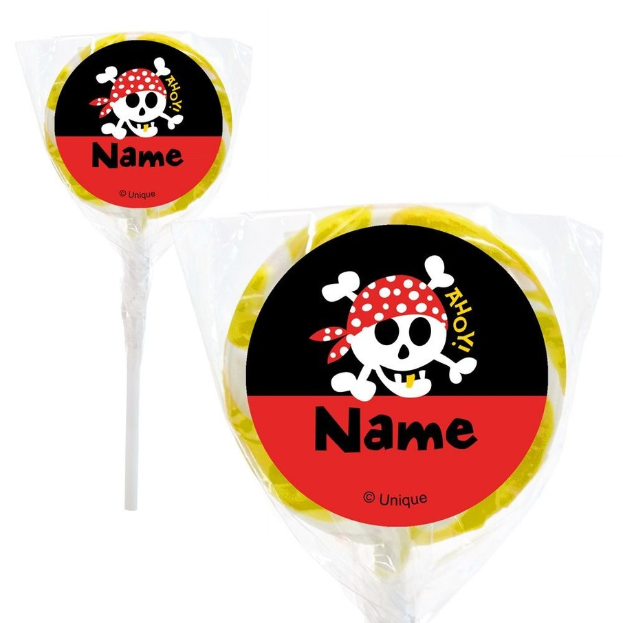 "View larger image of Pirate Birthday Personalized 2"" Lollipops (20 Pack)"
