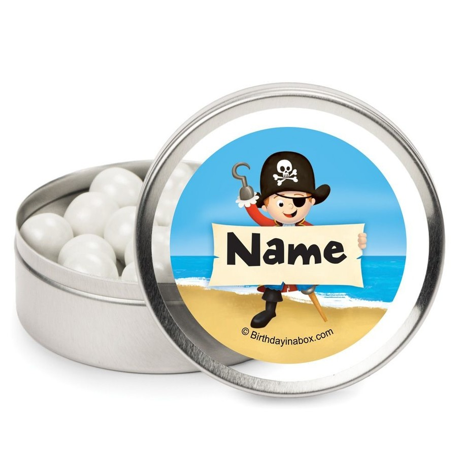 View larger image of Pirate Birthday Personalized Candy Tins (12 Pack)