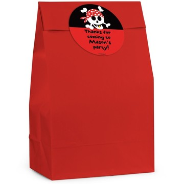Pirate Birthday Personalized Favor Bag (Set Of 12)