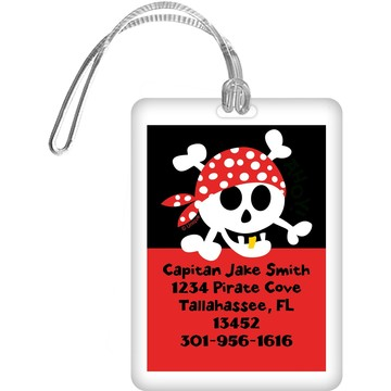 Pirate Birthday Personalized Luggage Tag (each)