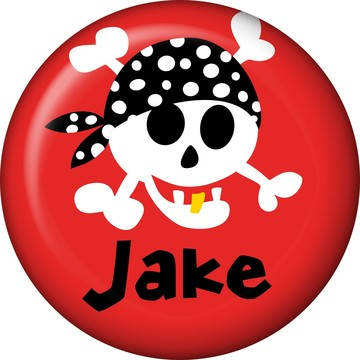 Pirate Birthday Personalized Mini Button (each)