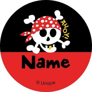 Pirate Birthday Personalized Mini Stickers (Sheet of 24)