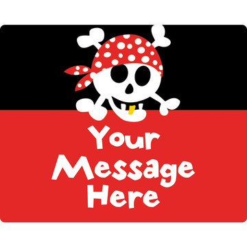Pirate Birthday Personalized Rectangular Stickers (Sheet of 15)