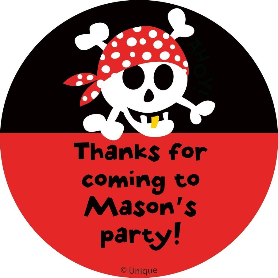 View larger image of Pirate Birthday Personalized Sticker