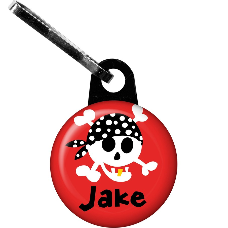 View larger image of Pirate Birthday Personalized Zipper Pull (each)
