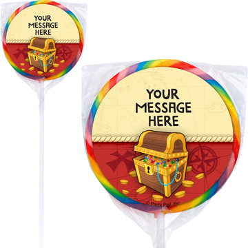 Pirate Friends Personalized Lollipops (12 Pack)