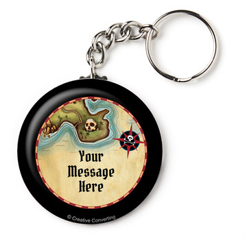 """Pirate Map Personalized 2.25"""" Key Chain (Each)"""