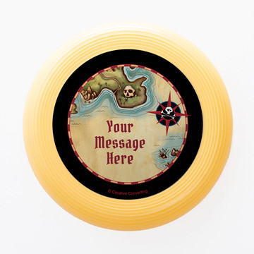 Pirate Map Personalized Mini Discs (Set of 12)