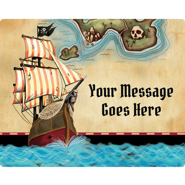 Pirate Map Personalized Rectangular Stickers (Sheet of 15)