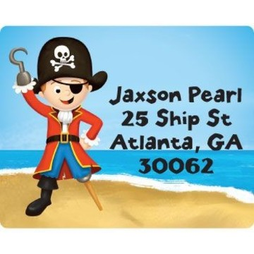 Pirate Personalized Address Labels (sheet of 15)