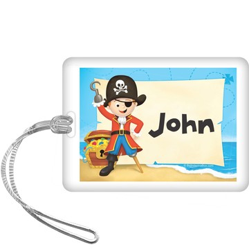 Pirate Personalized Bag Tag (each)