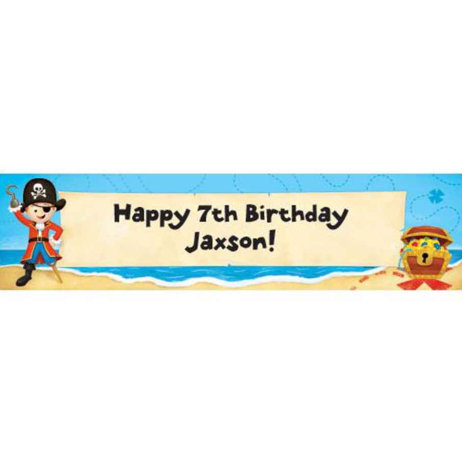 View larger image of Pirate Personalized Banner (each)