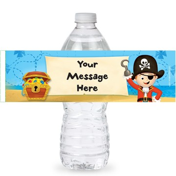 Pirate Personalized Bottle Labels (Sheet of 4)